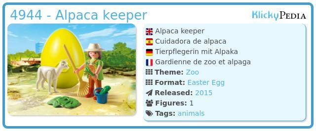 Playmobil 4944 - Alpaca keeper