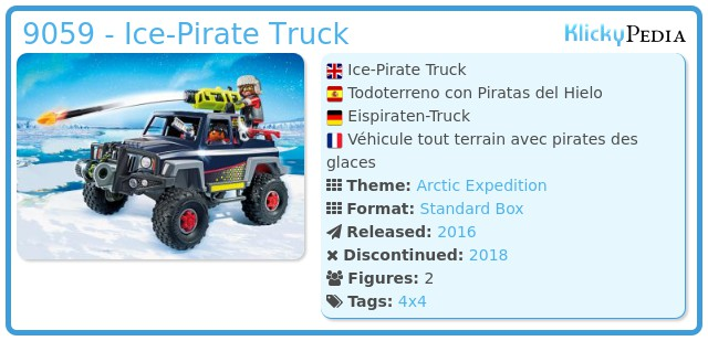 Playmobil 9059 - Ice-Pirate Truck