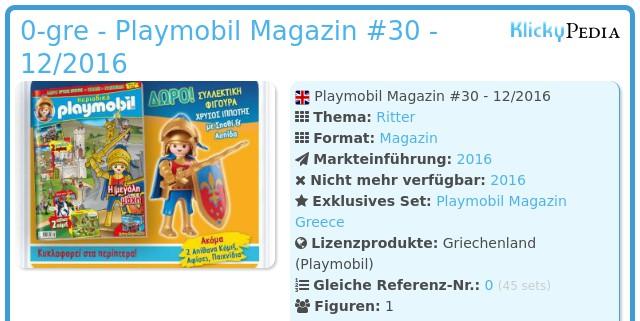 Playmobil 0-gre - Playmobil Magazin #30 - 12/2016