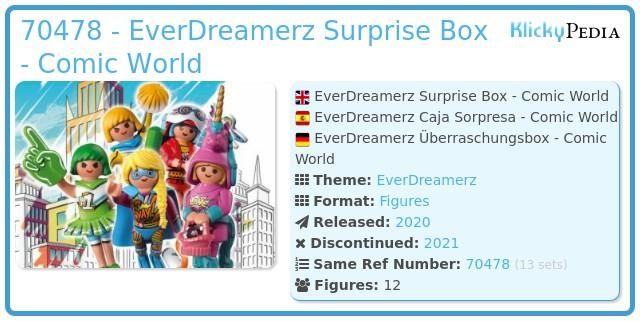 Playmobil 70478 - EverDreamerz Comic World - Surprise Box