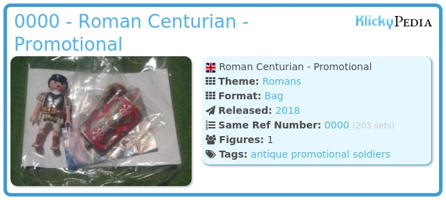 Playmobil 0000 - Roman Centurian - Promotional