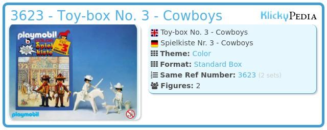 Playmobil 3623 - Toy-box No. 3 - Cowboys