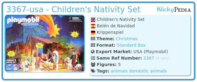 Playmobil 3367-usa - Children's Nativity Set