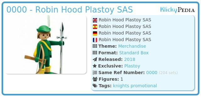 Playmobil 0000 - Robin Hood Plastoy SAS