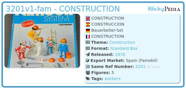 Playmobil 3201-fam - 5 Obreros