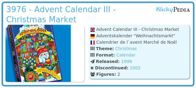 Playmobil 3976 - Advent Calendar III - Christmas Market