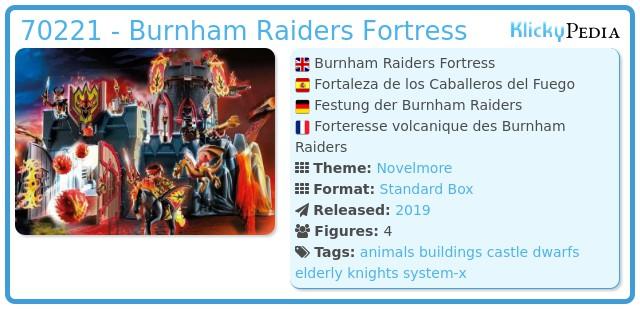 Playmobil 70221 - Burnham Raiders Fortress