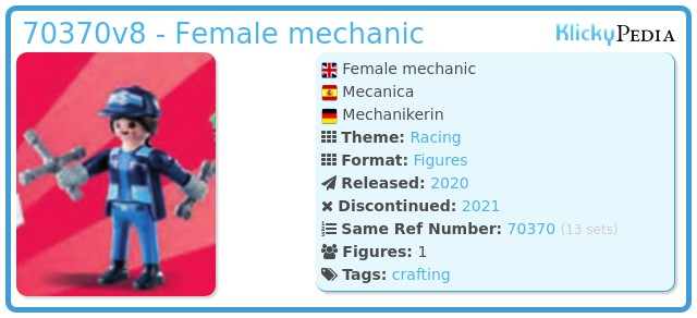 Playmobil 70370-08 - Mechanic woman