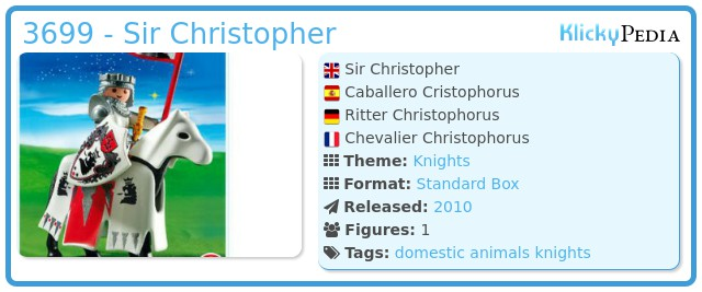 Playmobil 3699 - Sir Christopher