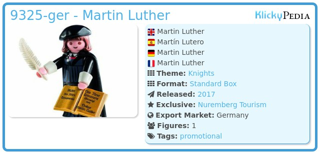 Playmobil 9325-ger - Martin Luther