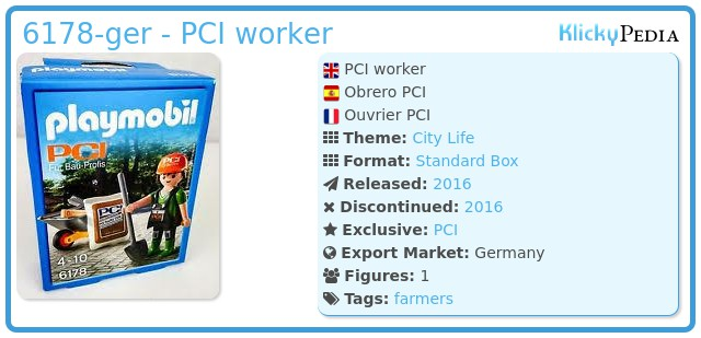 Playmobil 6178-ger - PCI worker