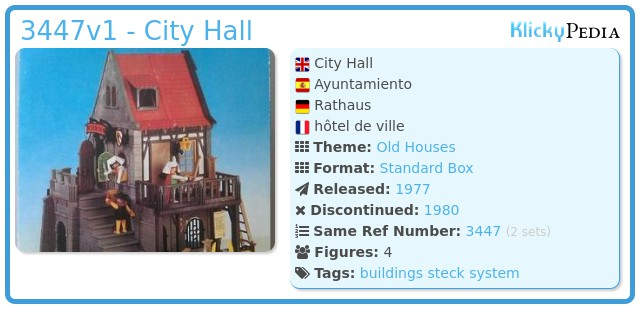 Playmobil 3447v1 - City Hall