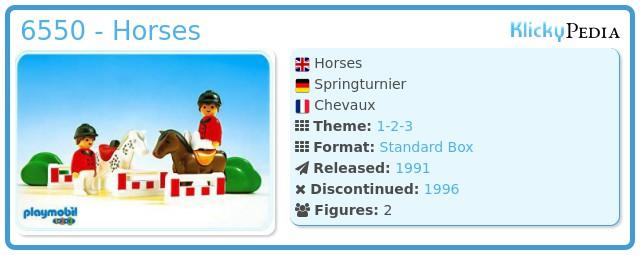 Playmobil 6550 - Horses