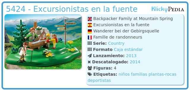 Playmobil 5424 - Excursionistas en la fuente