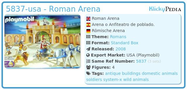 Playmobil 5837-usa - Roman Arena