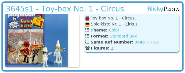 Playmobil 3645s1 - Toy-box No. 1 - Circus