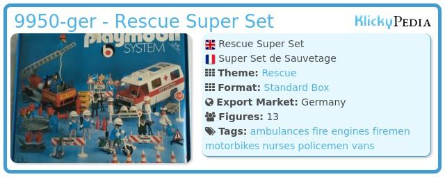 Playmobil 9950-ger - Rescue Super Set