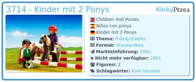 Playmobil 3714 - Kinder mit 2 Ponys