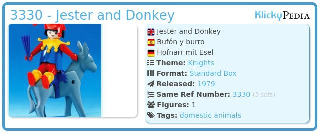Playmobil 3330 - Jester and Donkey