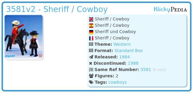 Playmobil 3581v2 - Sheriff / Cowboy