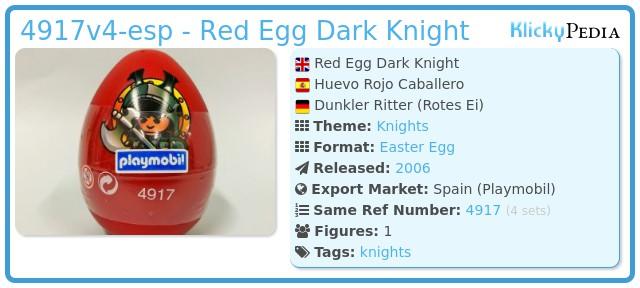 Playmobil 4917v4-esp - Red Egg Dark Knight