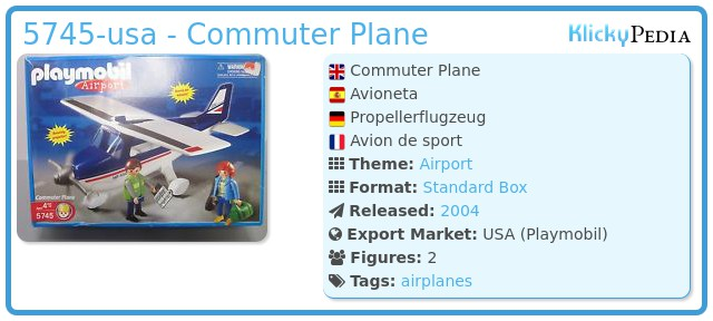 Playmobil 5745-usa - Commuter Plane