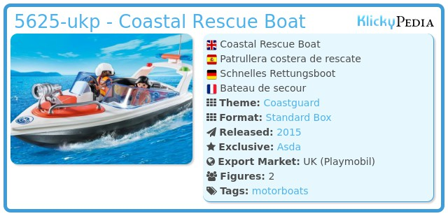 Playmobil 5625-ukp - Coastal Rescue Boat