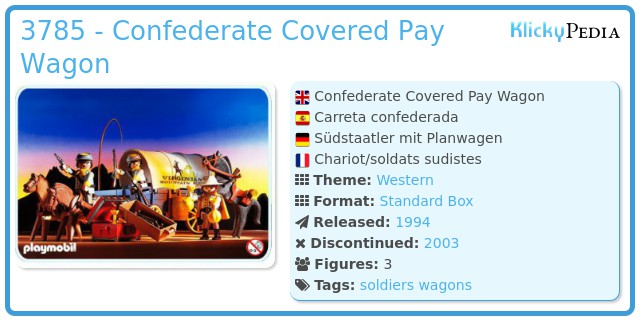 Playmobil 3785 - Confederate Covered Pay Wagon