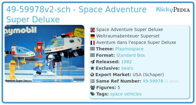 Playmobil 49-59978-sch - Space Adventure Super Deluxe