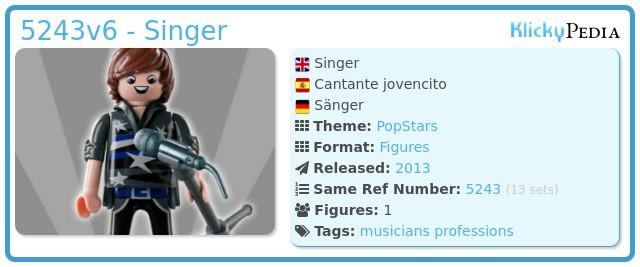 Playmobil 5243v6 - Singer