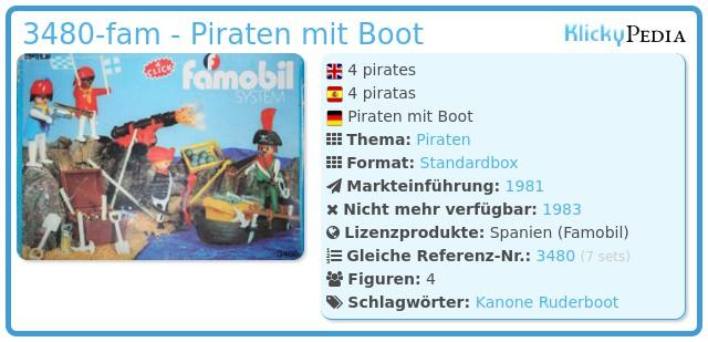 Playmobil 3480-fam - Piraten mit Boot