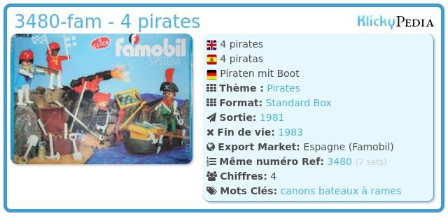 Playmobil 3480-fam - 4 pirates
