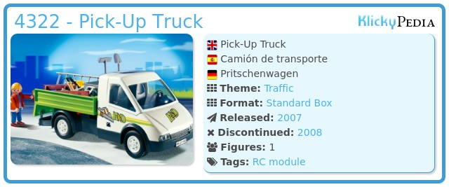 Playmobil 4322 - Pick-Up Truck