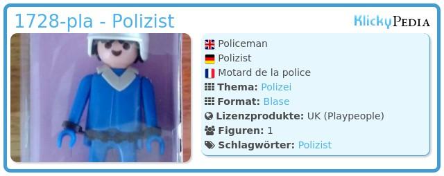 Playmobil 1728-pla - Polizist