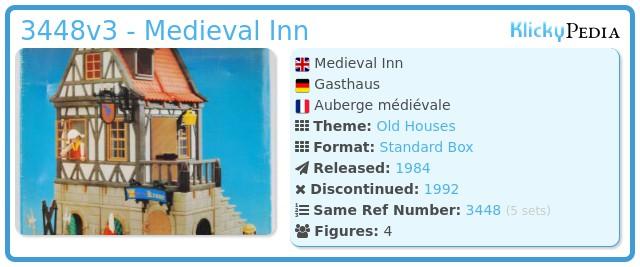 Playmobil 3448v3 - Medieval Inn