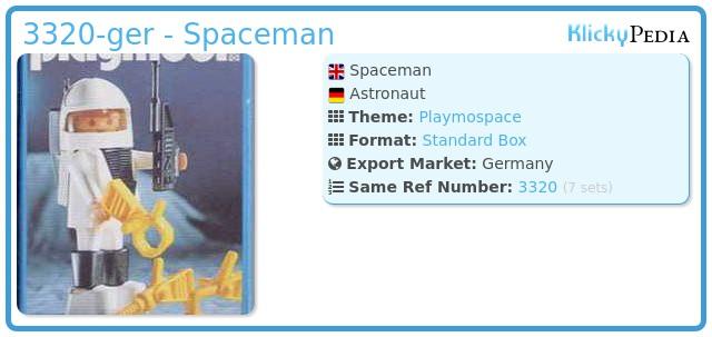 Playmobil 3320-ger - Spaceman