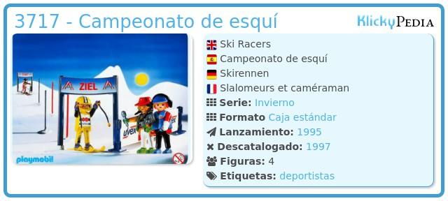 Playmobil 3717 - Campeonato de esquí