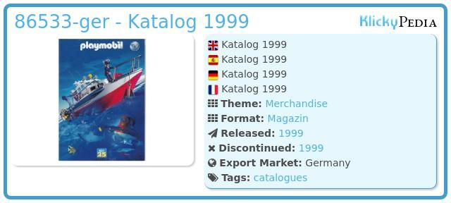 Playmobil 86533-ger - Katalog 1999