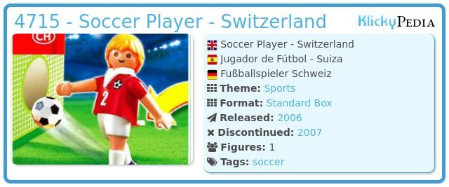 Playmobil 4715 - Soccer Player - Switzerland