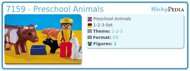 Playmobil 7159 - Preschool Animals
