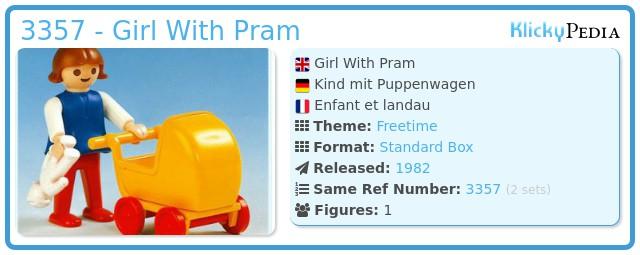 Playmobil 3357 - Girl With Pram