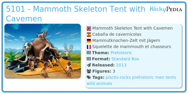 Playmobil 5101 - Mammoth Skeleton Tent with Cavemen