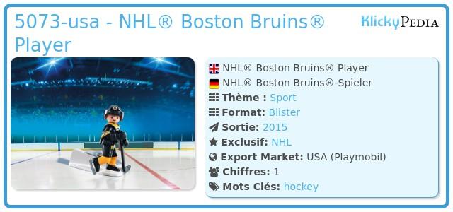 Playmobil 5073-usa - NHL® Boston Bruins® Player