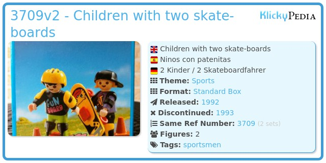 Playmobil 3709v2 - Children with two skate-boards