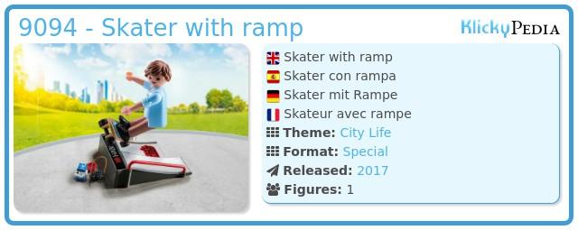 Playmobil 9094 - Skater with ramp