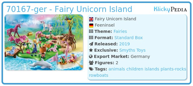 Playmobil 70167-ger - Fairy Unicorn Island