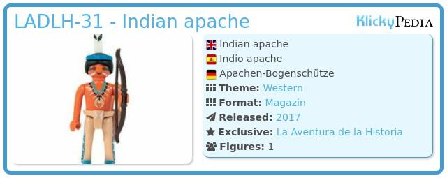 Playmobil LADLH-31 - Indian apache
