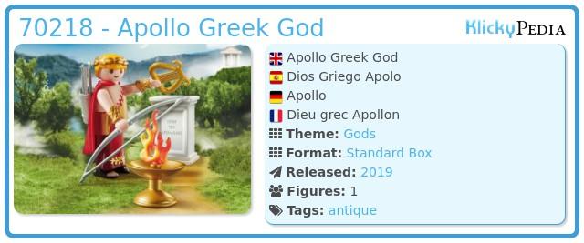 Playmobil 70218-gre - Apollo Greek God