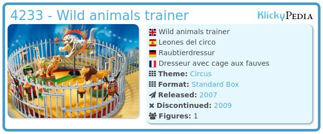 Playmobil 4233 - Wild animals trainer