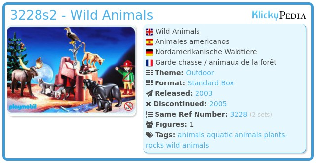 Playmobil 3228s2 - Wild Animals